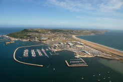 Portland Harbour and Osprey Quay from the air