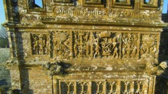A detail of the medieval stonework