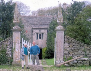 Mary Spencer Watson & Ilay Cooper outside Dunshay Manor.